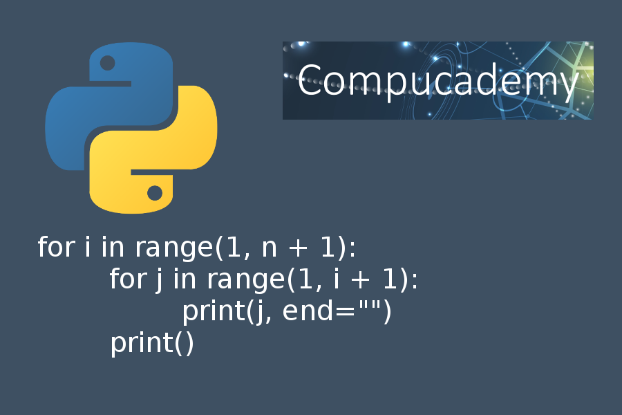 Python programming nested for loops