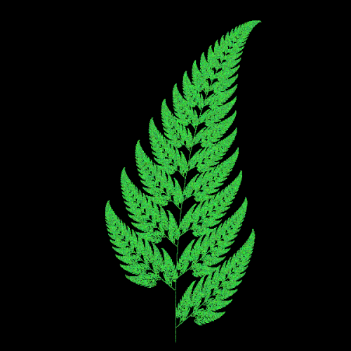 Fractals - Python Turtle Graphics Fern Leaf