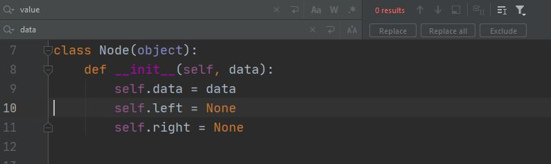 Python PyCharm find and replace after