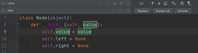Python PyCharm find and replace