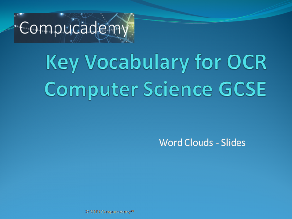 word clouds for OCR GCSE Computer Science 2