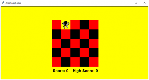 Python Turtle Graphics Game - Arachnophobia